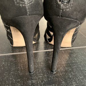 Aldo Shoes - ALDO Black Sorenza Lace-Up Stiletto Heel